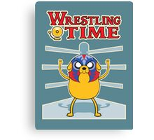 Wrestling time 2 Canvas Print