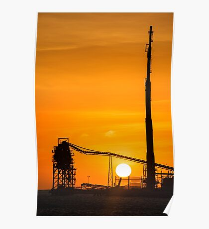 Sun Down Over Refinery Poster