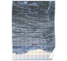 Crossed Lines at Sea Poster
