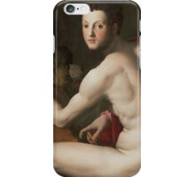 Agnolo Bronzino - Portrait of Cosimo I de  Medici as Orpheus  1537-1539 iPhone Case/Skin