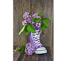 Lilac Sneaker Photographic Print