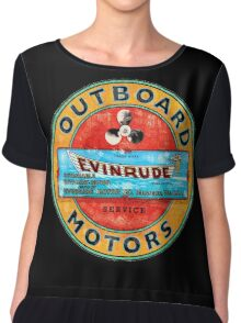 Vintage Evinrude outboard motor. Chiffon Top
