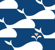 Whale pattern in Blue Ocean Sticker