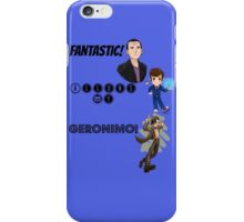 Tardis blue - doctors nine, ten and eleven.  iPhone Case/Skin