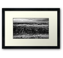 13th Beach Coastline in Black and White Framed Print