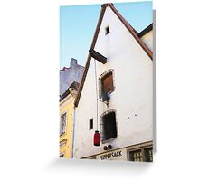 Peppersack, Old Town, Tallinn, Estonia Greeting Card
