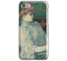 Henri de Toulouse-Lautrec  - Madame Marthe X―Bordeaux (1900)Woman Portrait  iPhone Case/Skin