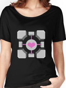 Portal - Companion Cube Women's Relaxed Fit T-Shirt