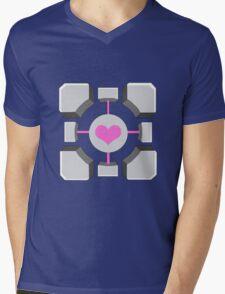 Portal - Companion Cube Mens V-Neck T-Shirt
