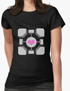 Portal - Companion Cube Womens Fitted T-Shirt