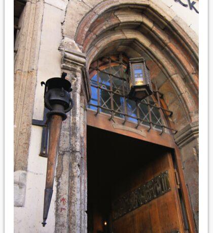 Front Door, Peppersack, Old Town, Tallinn, Estonia Sticker