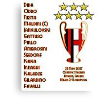 AC Milan 2007 Champions League Final Winners Canvas Print