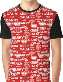 Keep Calm and Carry On Seamless Pattern Graphic T-Shirt