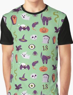 Halloween Mint Pattern Graphic T-Shirt