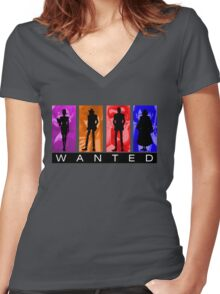 Wanted Lupin III Women's Fitted V-Neck T-Shirt