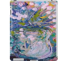White Flower Abstract iPad Case/Skin