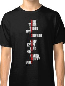 Grey's Anatomy Recent Cast Names (white) Classic T-Shirt