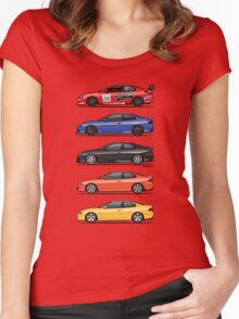 Stack of Holden Monaros Women's Fitted Scoop T-Shirt