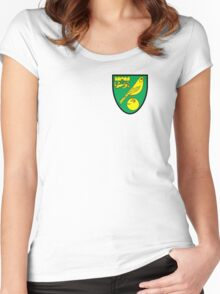 Norwich City Badge - BPL Women's Fitted Scoop T-Shirt