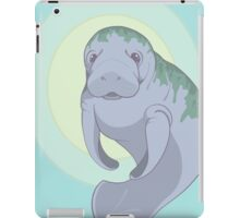 Cute Underwater Manatee with Algae  iPad Case/Skin