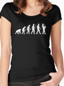Funny Saxophone Evolution Of Man Women's Fitted Scoop T-Shirt