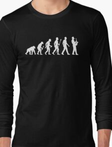 Funny Saxophone Evolution Of Man Long Sleeve T-Shirt