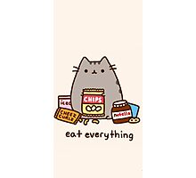 Pushen The Cat Eat Everything Photographic Print