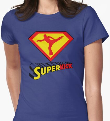 Superkick! Womens Fitted T-Shirt