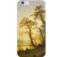 Albert Bierstadt - Sunrise, Yosemite Valley  1870 American Landscape iPhone Case/Skin