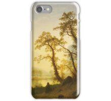 Albert Bierstadt - Sunrise, Yosemite Valley  1870 American Landscape iPhone Case/Skin