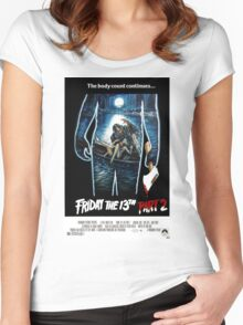 Friday the 13th Part 2 - Original Poster 1981 Women's Fitted Scoop T-Shirt