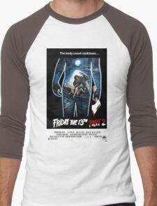 Friday the 13th Part 2 - Original Poster 1981 Men's Baseball ¾ T-Shirt