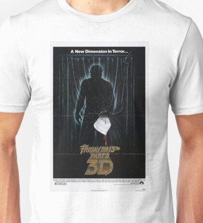 Friday the 13th Part 3 (3D) - Original Poster 1982 Unisex T-Shirt