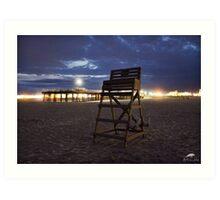 Lifeguard Stand & Pier Art Print