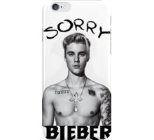 SORRY JUSTIN BEIBER iPhone Case/Skin