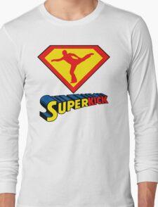 Superkick! (White) Long Sleeve T-Shirt
