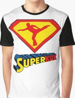 Superkick! (White) Graphic T-Shirt