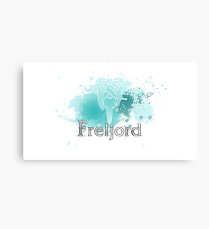 Abstract Freljord Logo Canvas Print