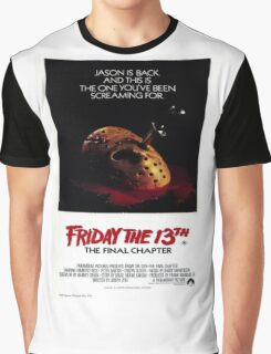 Friday the 13th Part 4 (The Final Chapter) - Original Poster 1984 Graphic T-Shirt