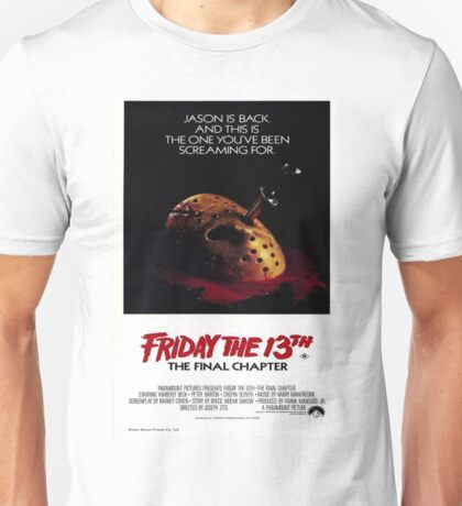 Friday the 13th Part 4 (The Final Chapter) - Original Poster 1984 Unisex T-Shirt