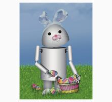 Cute Easter  Robo-x9  Kids Tee