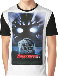 Friday the 13th Part 6 (Jason Lives) - Original Poster 1986 Graphic T-Shirt