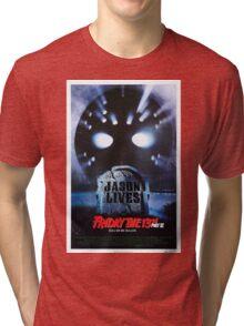 Friday the 13th Part 6 (Jason Lives) - Original Poster 1986 Tri-blend T-Shirt