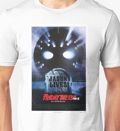 Friday the 13th Part 6 (Jason Lives) - Original Poster 1986 Unisex T-Shirt