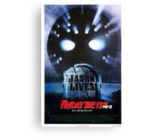 Friday the 13th Part 6 (Jason Lives) - Original Poster 1986 Canvas Print