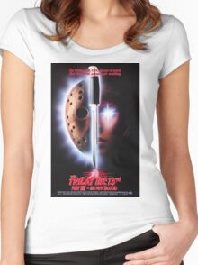 Friday the 13th Part 7 (The New Blood) - Original Poster 1988 Women's Fitted Scoop T-Shirt