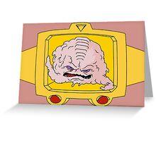 Krang Greeting Card