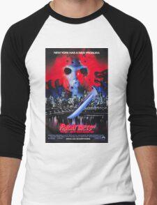 Friday the 13th Part 8 (Jason Takes Manhattan) - Original Poster 1989 Men's Baseball ¾ T-Shirt