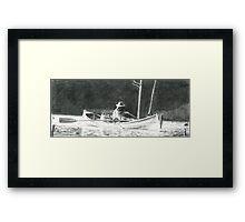 Man Rowing Framed Print