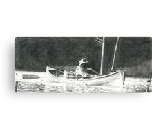 Man Rowing Canvas Print